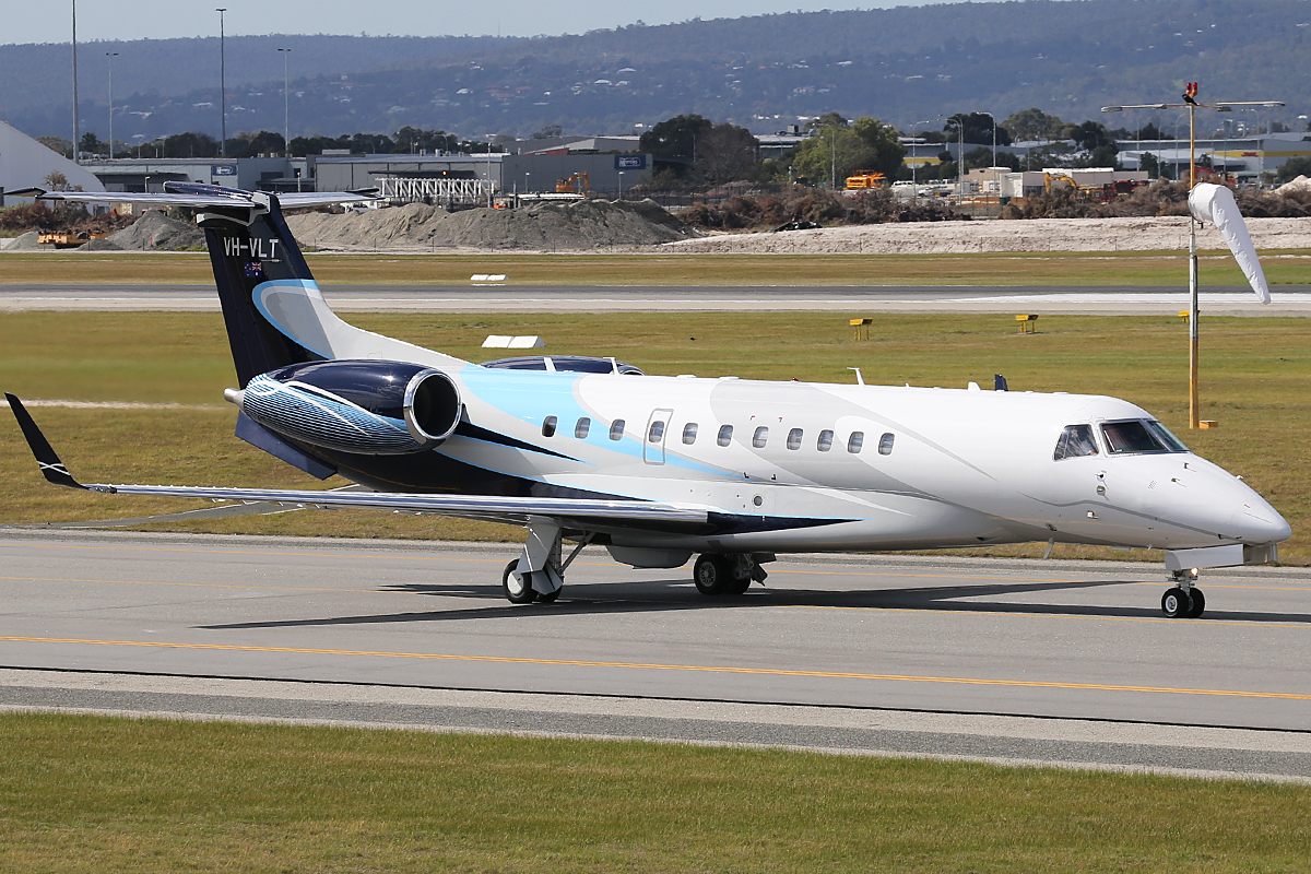 VH-VLT Embraer ERJ-135BJ Legacy 600 (MSN 14501107) owned by Marcplan Charter Pty Ltd, at Perth Airport – Sat 23 Aug 2014.