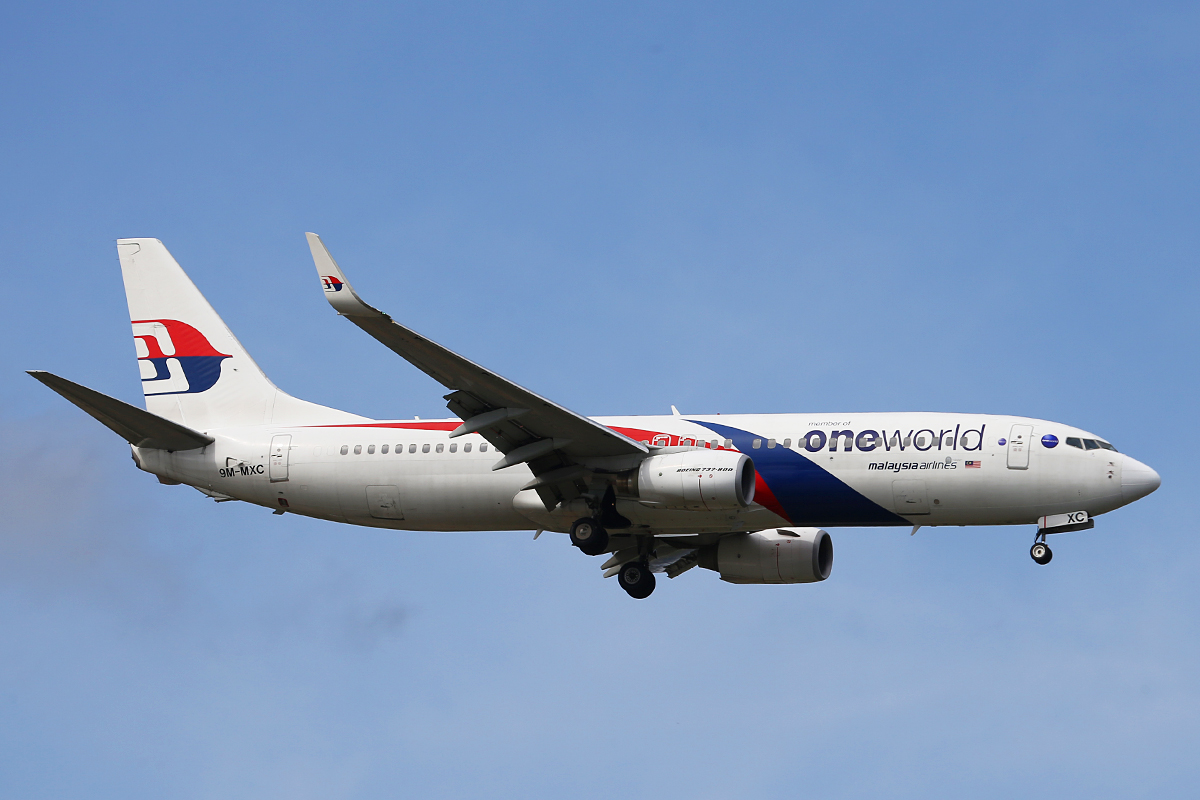 9M-MXC Boeing 737-8H6/W (MSN 40130) of Malaysia Airlines at Perth Airport – Wed 27 Aug 2014.