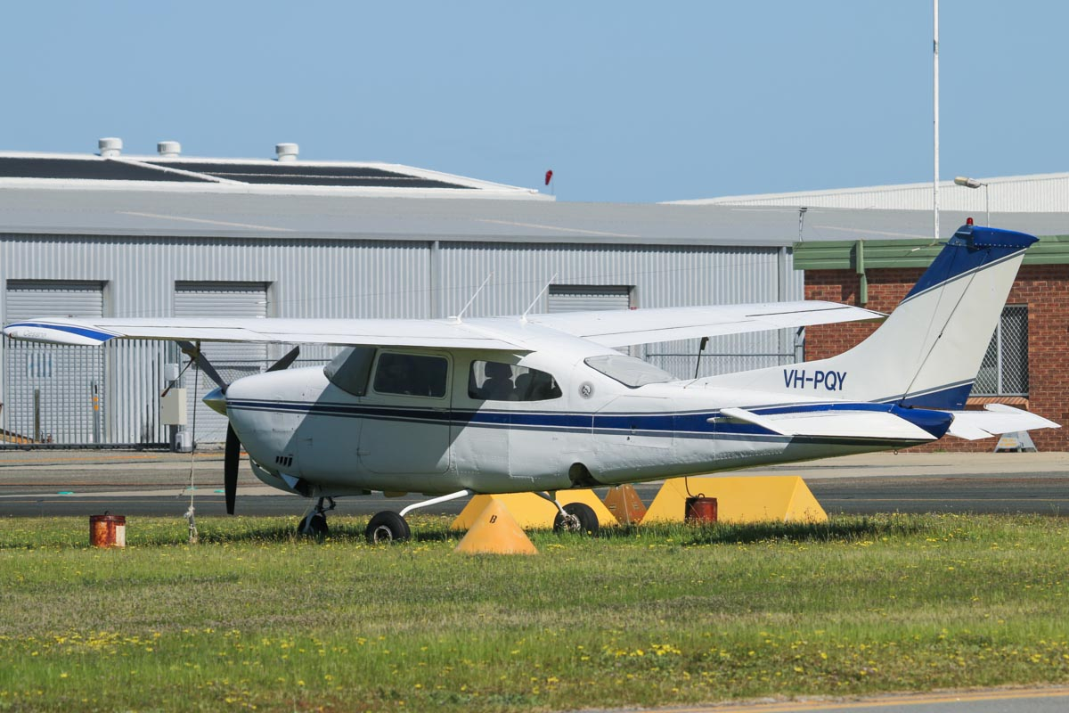 VH-PQY Cessna 210K Centurion (MSN 21059364, ex N9464M, VH-SAQ) owned by Peter Collins, at Jandakot Airport - Fri 5 September 2014. Photo © David Eyre