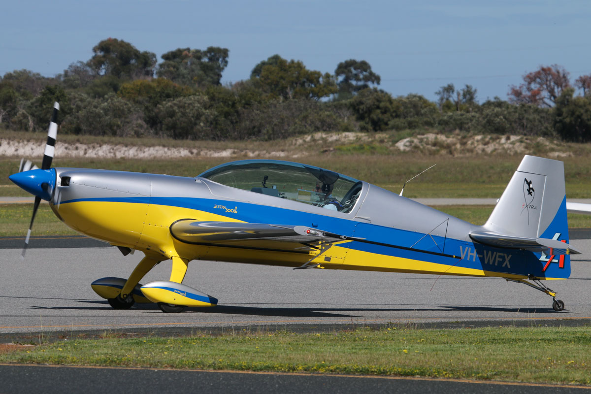 VH-WFX Extra EA-300L (MSN 1276, ex D-EAWI) owned by William Waterton, at Jandakot Airport - Fri 5 September 2014. Photo © David Eyre