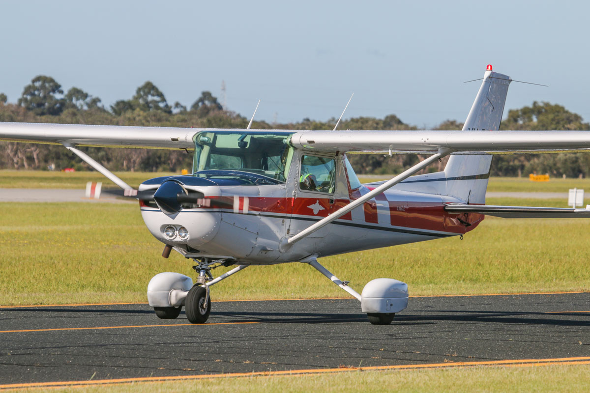 VH-BFT Cessna A152 Aerobat (MSN A1520898, ex (N4831A not taken up), N1588C), owned by the Royal Aero Club of Western Australia Inc, at Jandakot Airport - Sat 13 September 2014. Photo © David Eyre