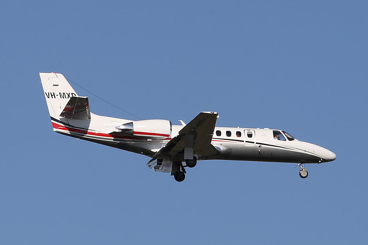 VH-MXD Cessna 560 Encore+ (MSN 560-0807) of Maxem Aviation at Perth Airport – Tues 16 Sept 2014.