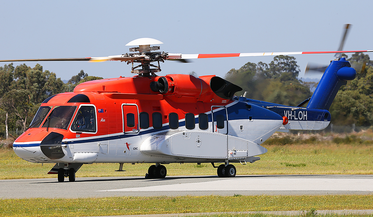 VH-LOH Sikorsky S-92A (MSN 920036) of CHC Helicopters at Jandakot Airport – Sat 20 Sept 2014.