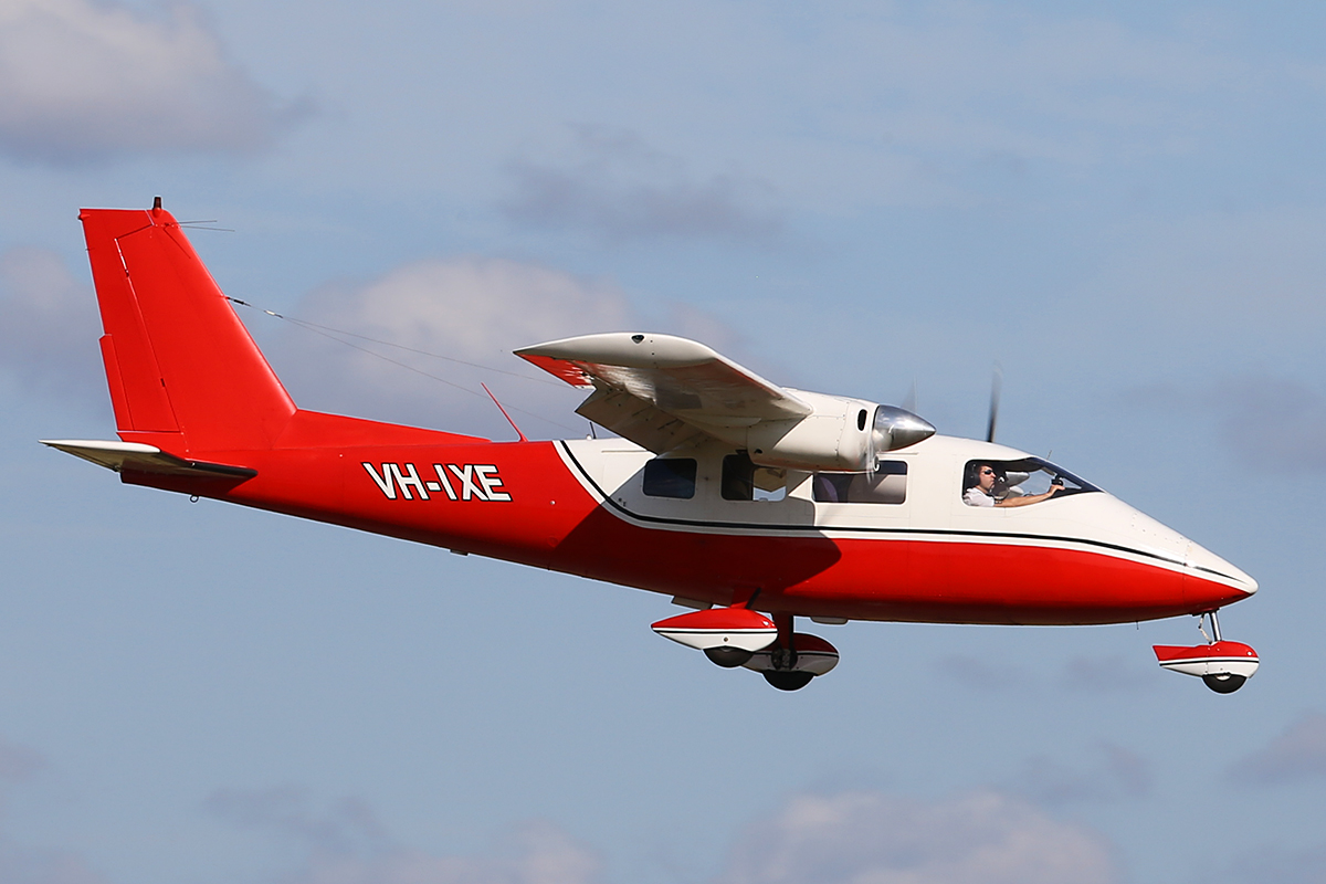 VH-IXE Partenavia P.68B Victor (MSN 178) owned by the Royal Aero Club of WA, at Jandakot Airport – Thurs 25 Sept 2014.