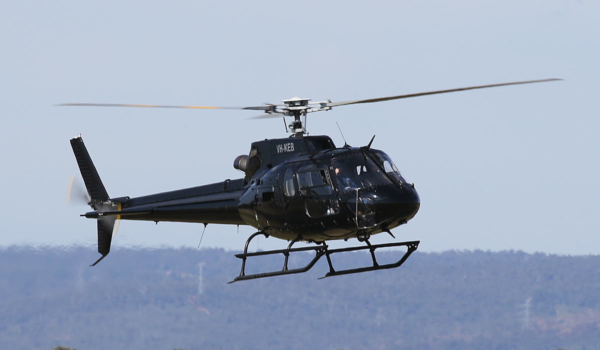 VH-KEB Eurocopter AS350B2 Squirrel (cn 4805) of Heliwest (Power Capital Holdings Pty Ltd) at Jandakot Airport – Thurs 25 Sept 2014.