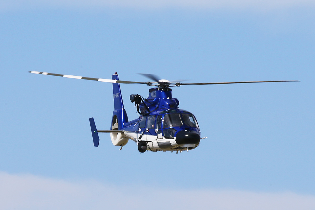VH-WPX Eurocopter AS365N3+ Dauphin 2 (MSN 6936, ex F-WWOX), call sign 'POLAIR62′ of WA Police Air Wing at Jandakot Airport – Thurs 25 Sept 2014.