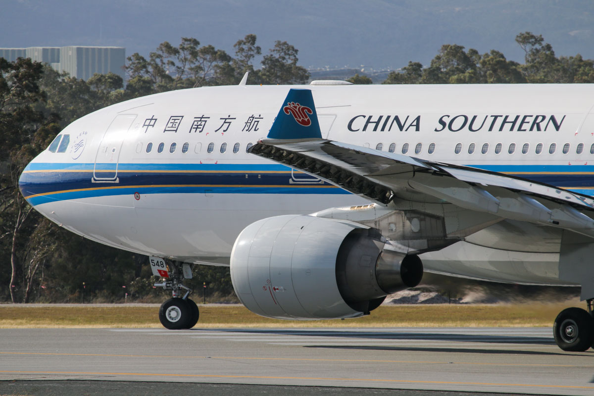 B-6548 Airbus A330-223 (MSN 1335) of China Southern at Perth Airport - Sun 21 September 2014. Flight CZ320 to Guangzhou, lining up on runway 03 for departure at 8:33am. Photo © David Eyre
