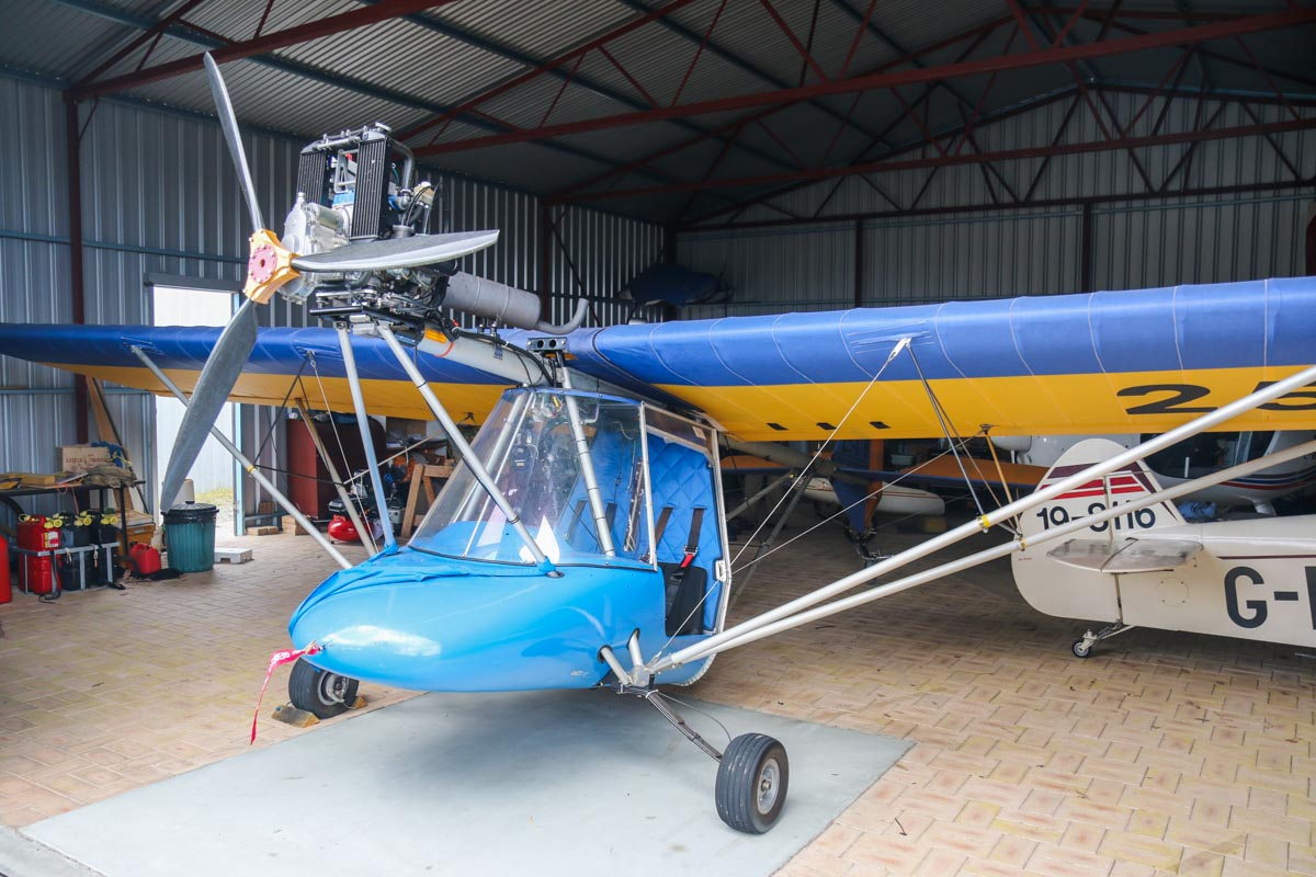 25-0179 Thruster TST (MSN 088-285) at SABC Annual Fly In, Serpentine Airfield – Sun 28 September 2014. First registered 6 June 1998, it was withdrawn from use in 1996 and restored in 2009. Photo © David Eyre