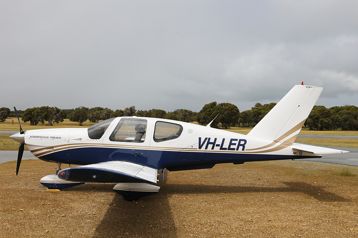 VH-LER SOCATA TB-10 (MSN 1231) at Serpentine Airfield – Sun 28 Sept 2014.