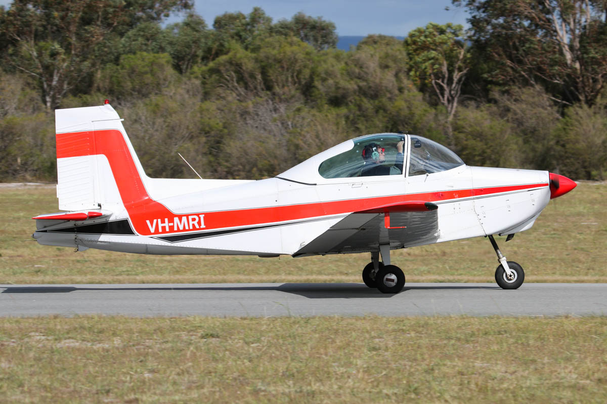 VH-MRI Victa Airtourer 115 (MSN 158) owned by Susan Clarke, at SABC Annual Fly In, Serpentine Airfield – Sun 28 September 2014. Built in Australia in 1965. Photo © David Eyre