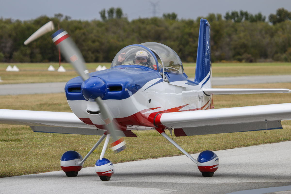 VH-OTG Vans RV-8A (MSN 80641) owned by Kenneth George, at SABC Annual Fly In, Serpentine Airfield – Sun 28 September 2014. Built in 2005. Photo © David Eyre