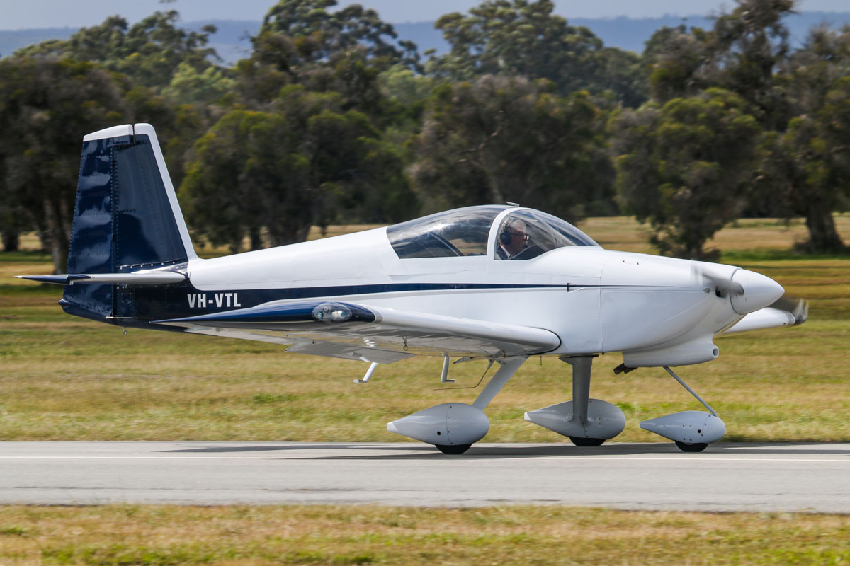 VH-VTL Vans RV-7A (MSN 72928), owned by John W Eddy, of Augusta, WA, at SABC Annual Fly In, Serpentine Airfield – Sun 28 September 2014. Landing on runway 23. Built in 2009. Photo © David Eyre