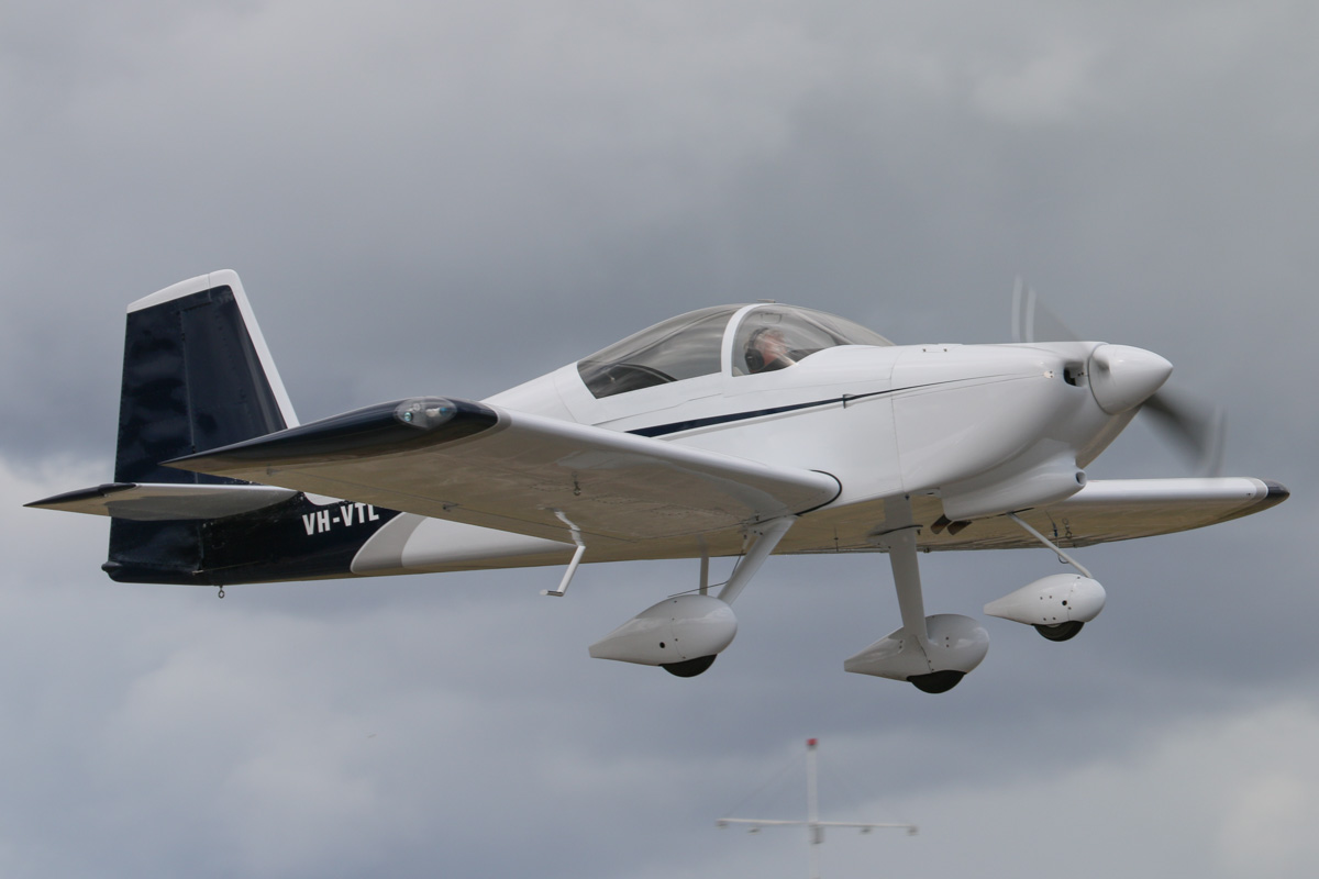 VH-VTL Vans RV-7A (MSN 72928), owned by John W Eddy, of Augusta, WA, at SABC Annual Fly In, Serpentine Airfield – Sun 28 September 2014. Taking off from runway 23. Built in 2009. Photo © David Eyre
