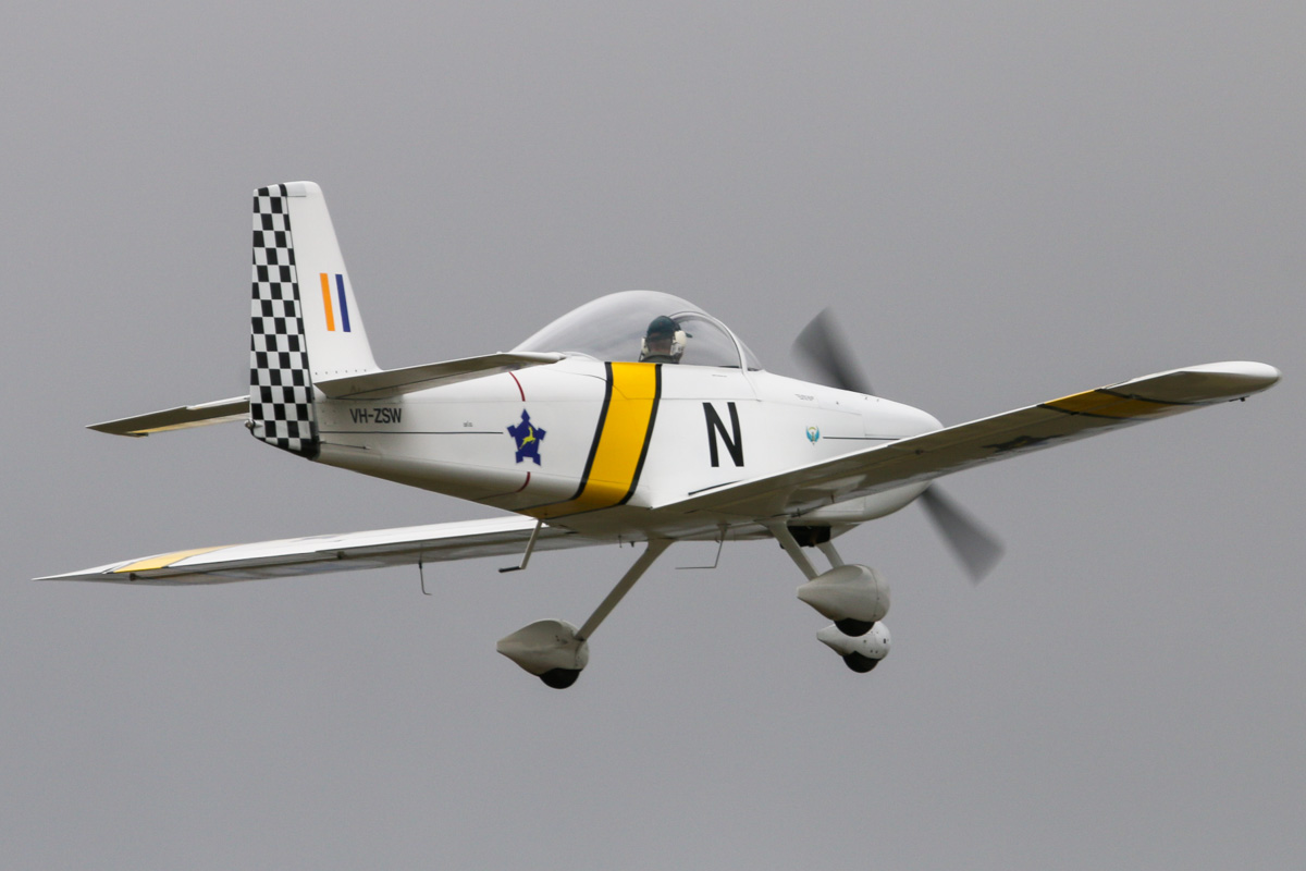 VH-ZSW Vans RV-8A (MSN 82612), named 'Glow Worm', owned by Isak Van Heerden, at SABC Annual Fly In, Serpentine Airfield – Sun 28 September 2014. Built in 2013. In South African Air Force markings, though the type has never served with them. Photo © David Eyre