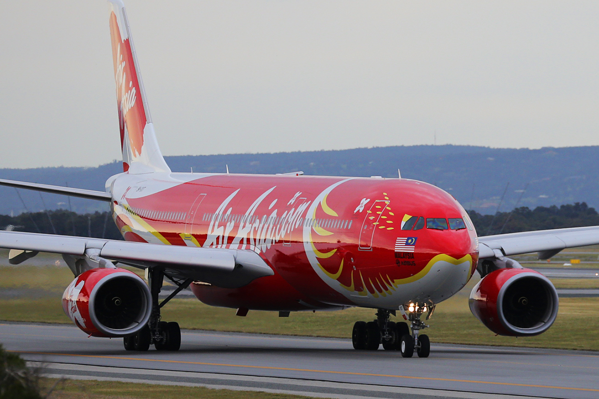 "9M-XXT Airbus A330-343 (MSN 1549) of Air Asia X in special ""Xcintillating PhoeniX"" livery"