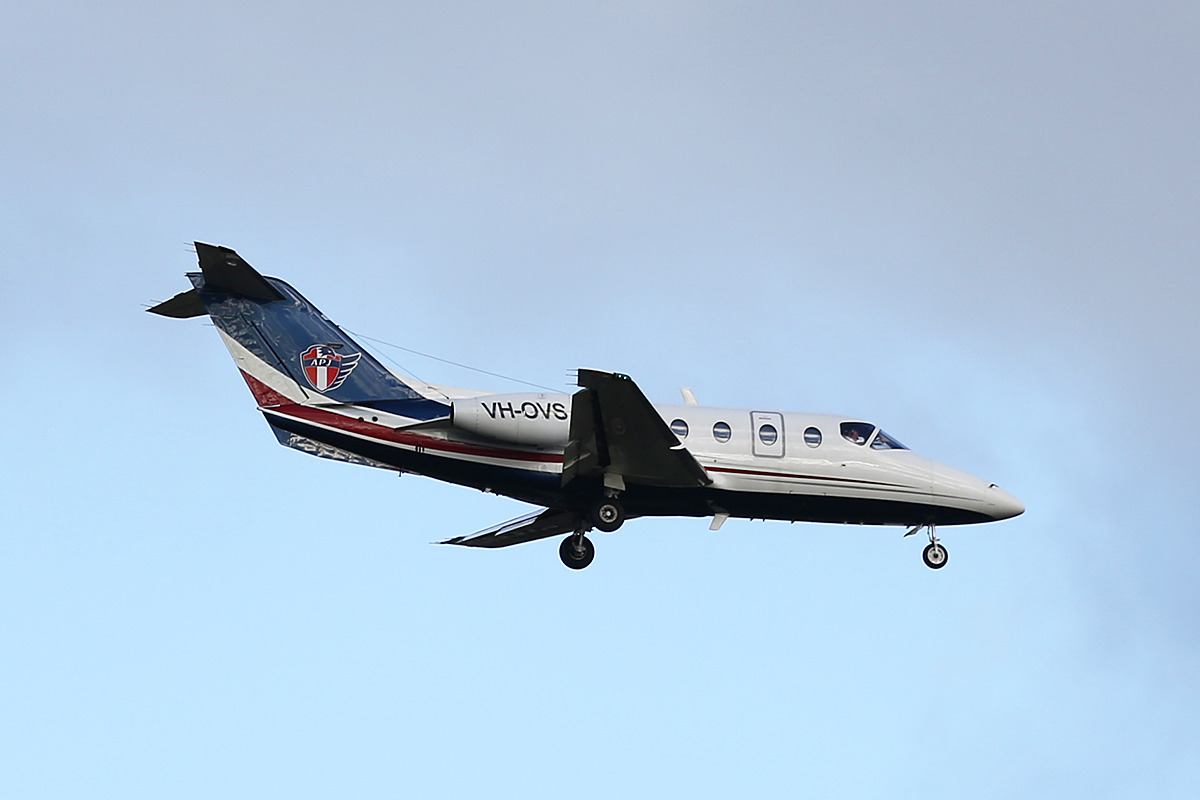 VH-OVS Beech 400A (MSN RK-239) of AP Jets at Perth Airport – Sat 10 Oct 2014.