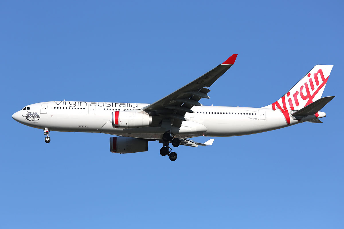 VH-XFH Airbus A330-243 (MSN 1452) of Virgin Australia at Perth Airport – Wed 15 Oct 2014.
