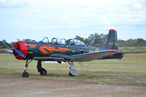 VH-AYU Nanchang CJ-6A (MSN 4532020) at Murrayfield – 18 Oct 2014.