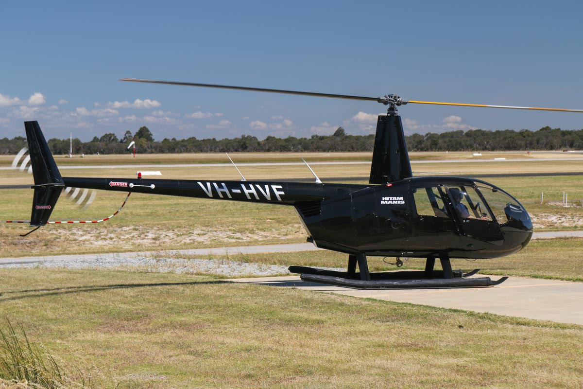 VH-HVF Robinson R44 Raven II (MSN 10857) owned by A R Stookes Pty Ltd/Hitam Manis, at Jandakot Airport - Fri 24 October 2014. Photo © David Eyre