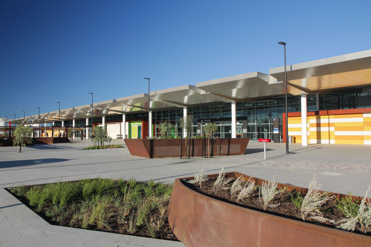 Terminal 2 on the first day of operations, Perth Airport - Sat 2 March 2013. Photo © David Eyre