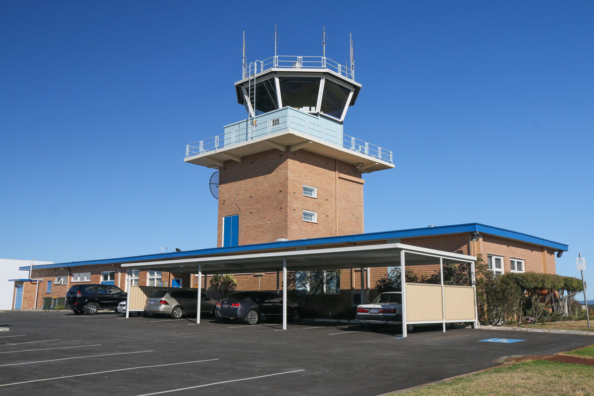 Control Tower at Jandakot Airport - Fri 14 November 2014. The tower was built in 1965 and is 25 metres tall. Photo © David Eyre