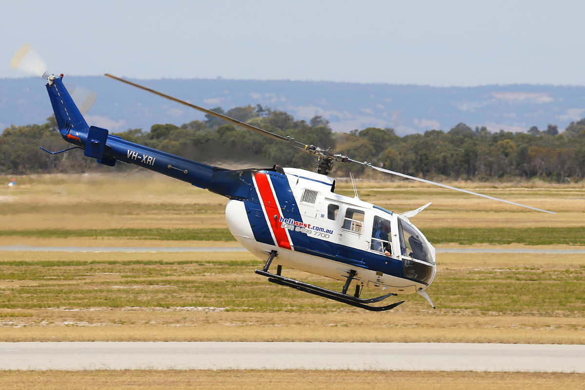VH-XRI Eurocopter Canada BO105LS A-3 (MSN 2941) of Heliwest at Jandakot Airport – Tues 18 Nov 2014.