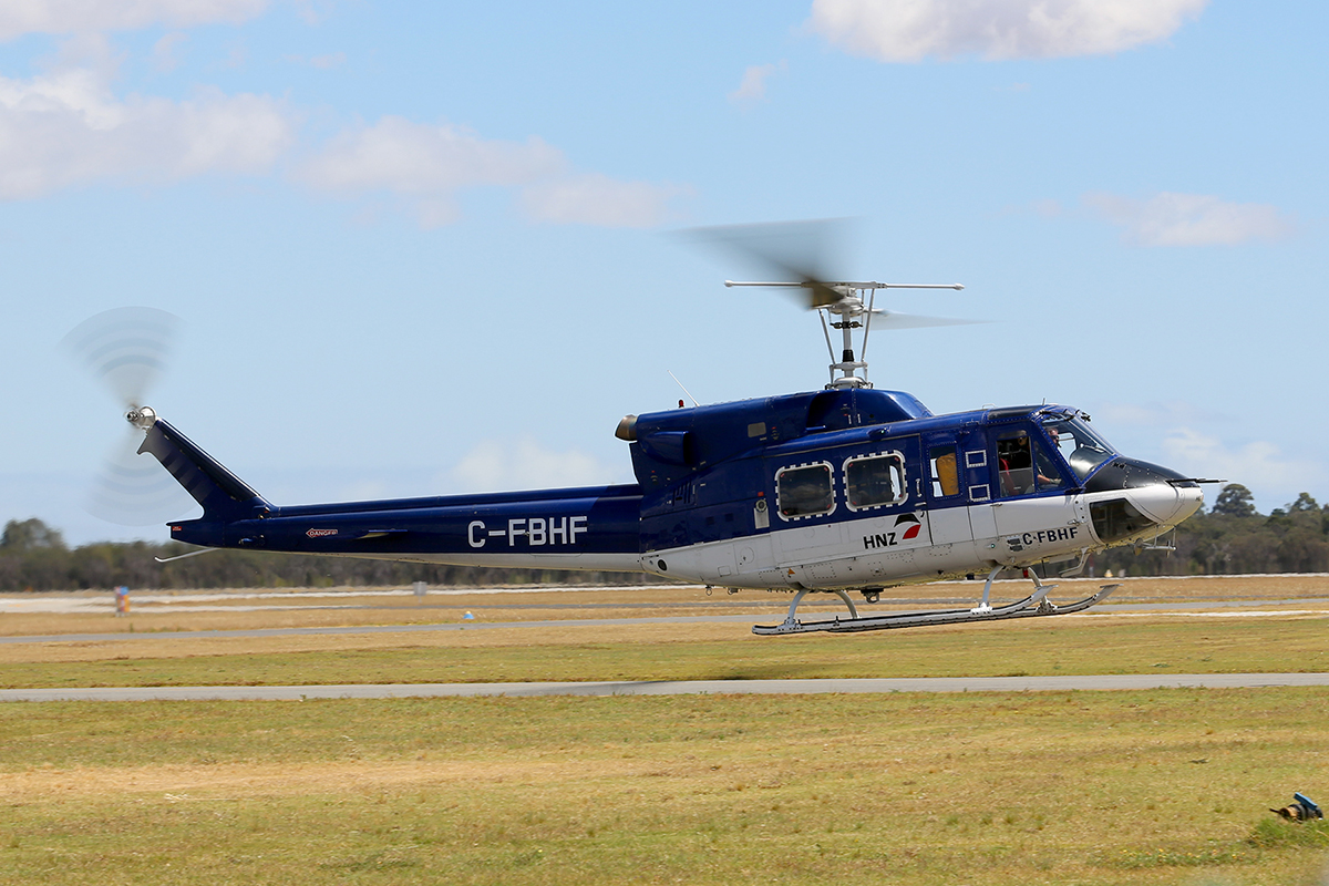 C-FBHF Bell 212 (MSN 30509) of Canadian Helicopters Ltd at Jandakot Airport – Sat 22 Nov 2014.