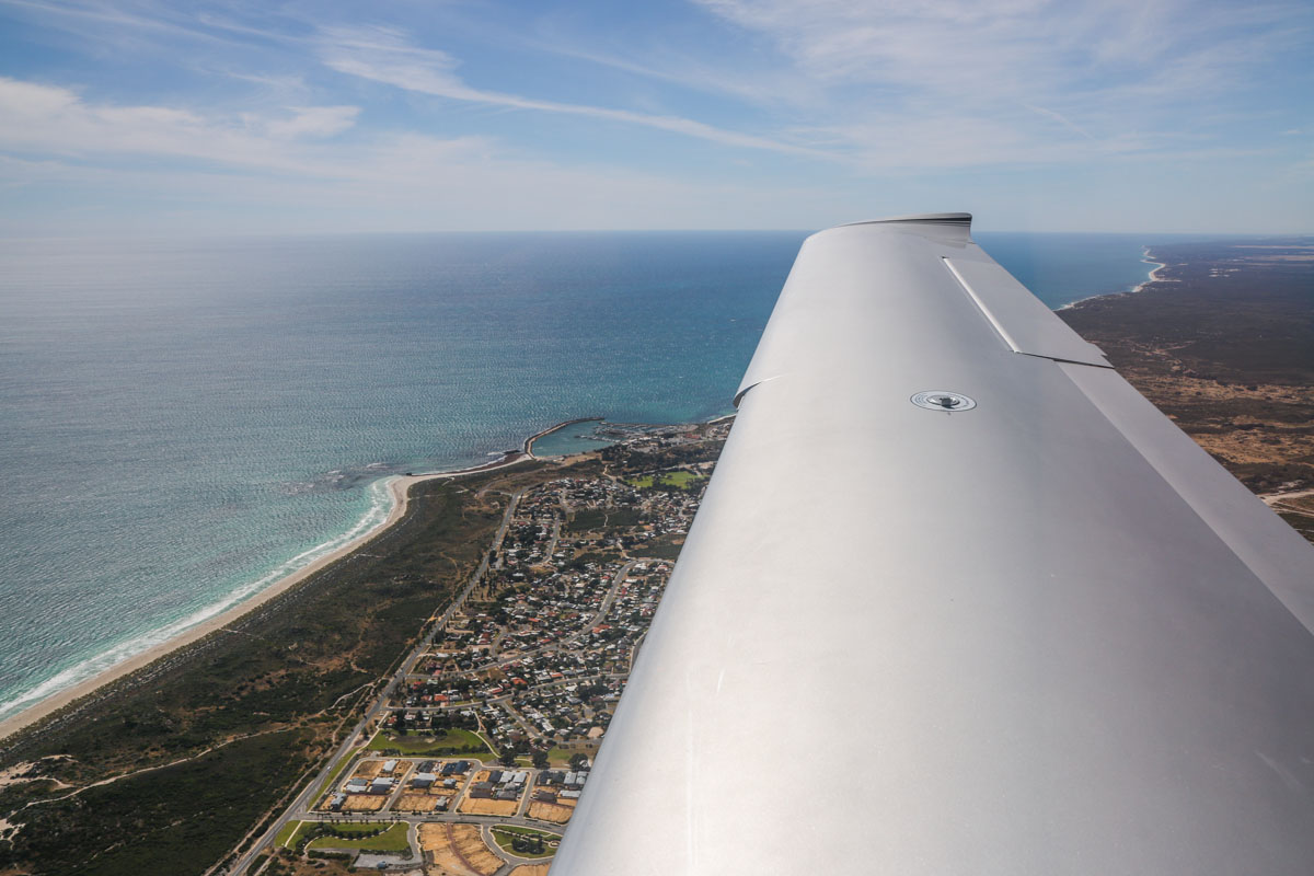 Two Rocks, seen from VH-ICE Cirrus SR22 GTS G5 (MSN 4063) owned by Andrew Dean - Sat 15 November 2014. View facing northwest. Photo © David Eyre