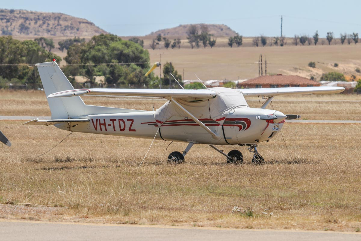 VH-TDZ Cessna 150M (MSN 15075794, ex N1620C) owned by Norwest Air Work (Eric Roulston), of Exmouth, WA, at Geraldton Airport - Sat 15 November 2014. Photo © David Eyre