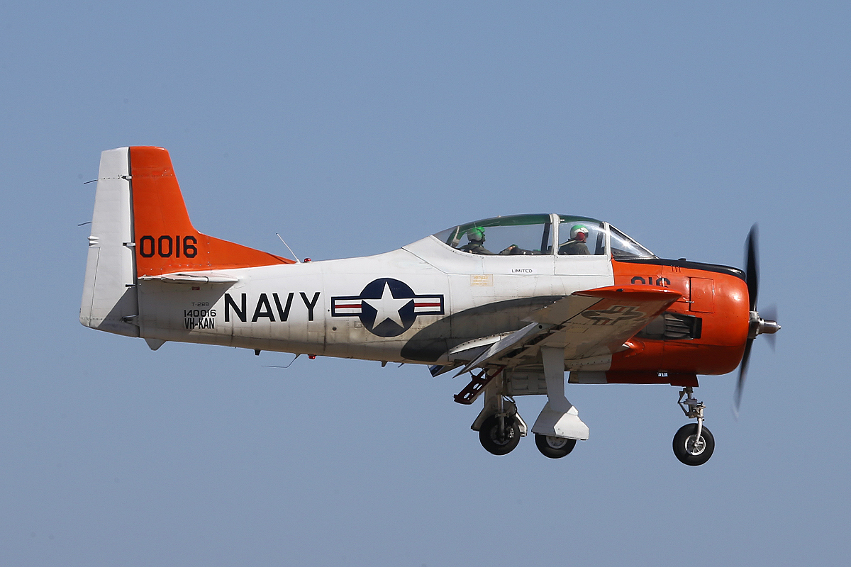 VH-KAN / 140016 North American T-28B Trojan (MSN 219-15 ), Built in 1955 for the US Navy and now operated by AOG Services Pty Ltd, at Jandakot Airport – Sat 13 Dec 2014.