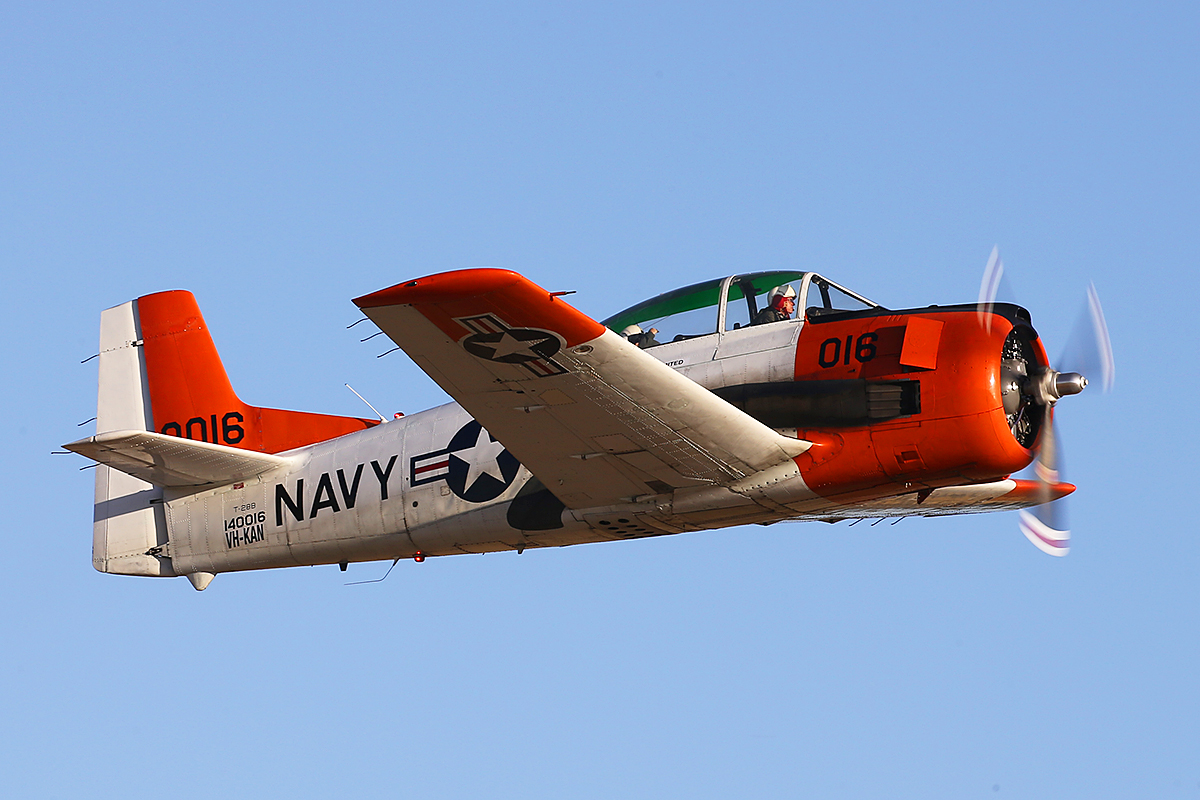 VH-KAN North American Aviation T-28B Trojan (MSN 140016) operated by AOG Services at Jandakot Airport – Australia Day, Mon 26 Jan 2015.