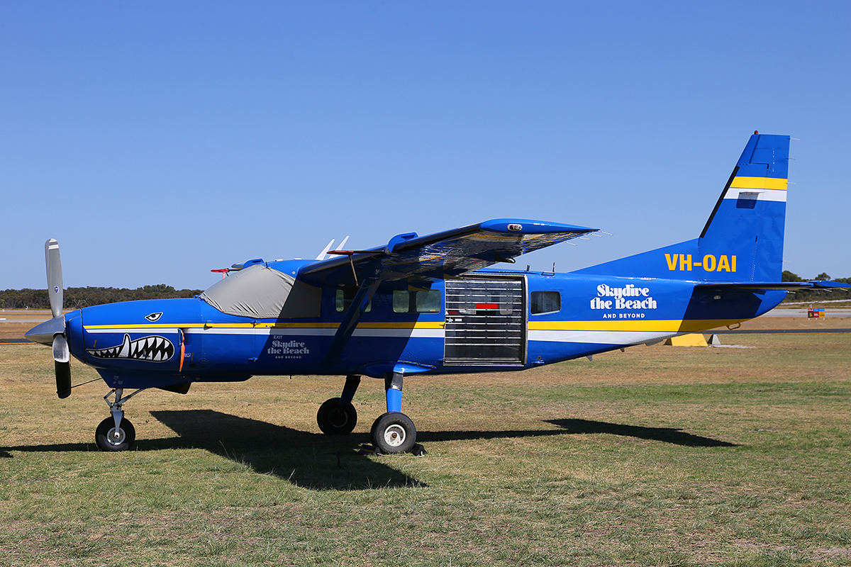 "VH-OAI Cessna 208 Caravan (MSN 20800093) of Skydive the Beach and Beyond"" at Jandakot Airport Australia Day, Mon 26 January 2015."