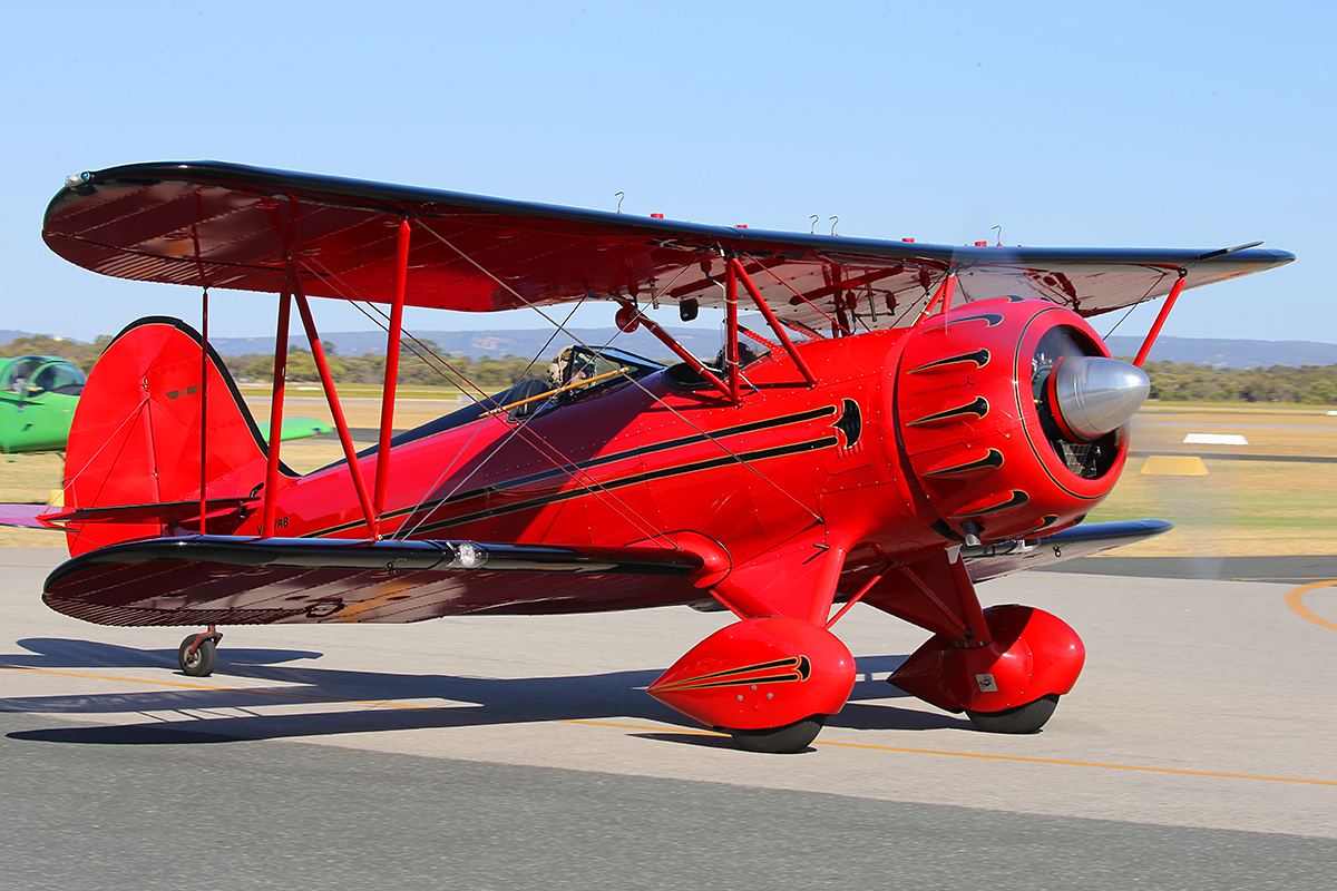 VH-YRB Waco YFM-F5C (MSN F5C105) - at Jandakot Airport – Australia Day, Mon 26 January 2015.