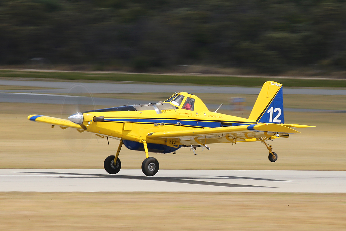 """VH-NID / BOMBER612 Air Tractor AT-802AF (MSN 802A-0523), named """"The Boss"""", owned by Dunn Aviation, leased to Department of Fire and Emergency Services, at Jandakot Airport - Tues 3 Feb 2015."""