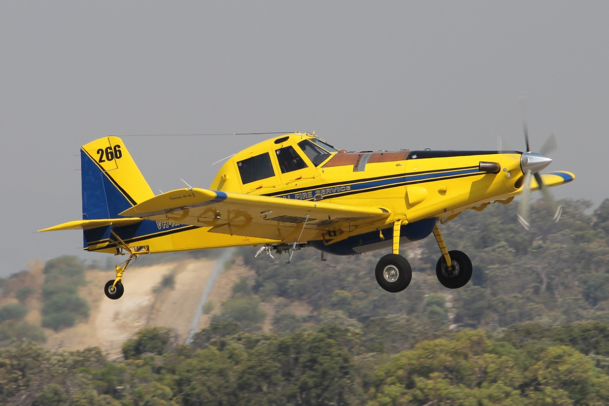 VH-XAV Air Tractor AT-802 (MSN 802-0377)of Kennedy Aviation, for the NSW Rural fire service at Jandakot Airport - 7 Feb 2015.