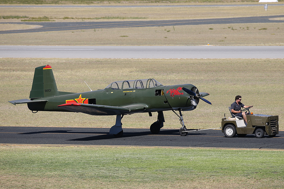 VH-FCY Nanchang CJ-6A of Vector Logistics Pty Ltd a t Jandakot Airport 12 March 2015.