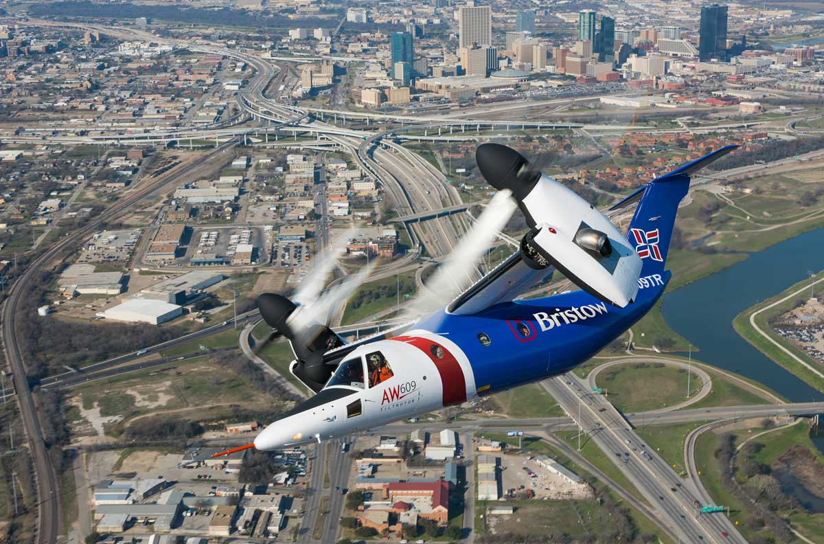 N609TR AgustaWestland AW609 (MSN 60001, built 2003) owned by AgustaWestland, in Bristow Helicopters livery - 13 February 2015