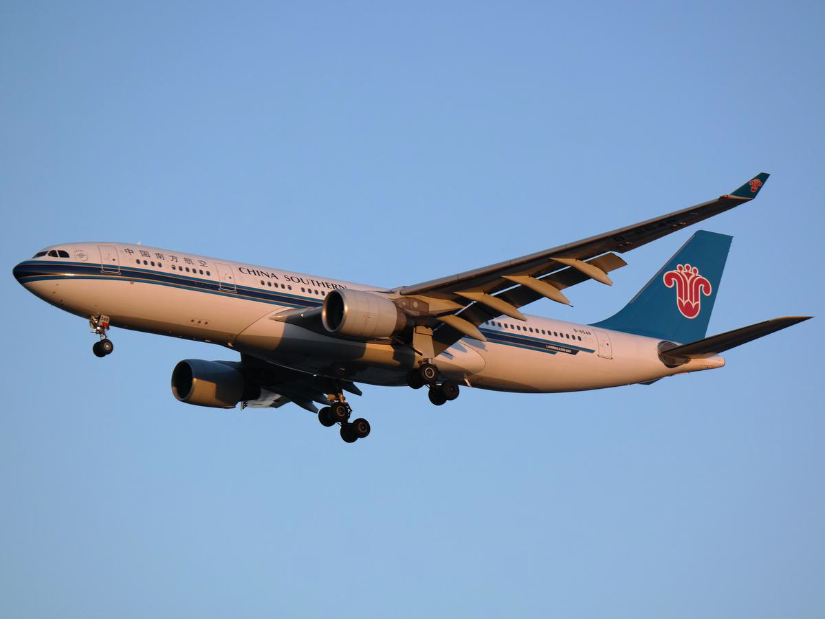B-6548 Airbus A330-223 (MSN 1335) of China Southern Airlines at Perth Airport - Sun 15 February 2015. Flight CZ319 from Guangzhou landing on runway 21 at 6:12am. China Southern will replace the A330-200s with Boeing 787-8 Dreamliners on Perth services from 1 April 2015. Photo © Jimmy Leng