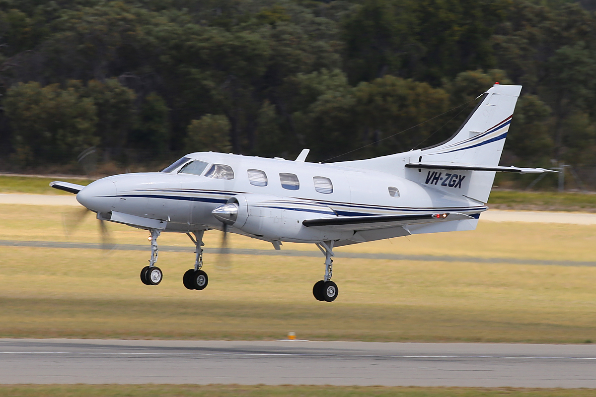 VH-ZGX Swearingen SA227-TT Merlin IIIC (MSN TT-534) of Casair, at Jandakot Airport – 4 March 2015.