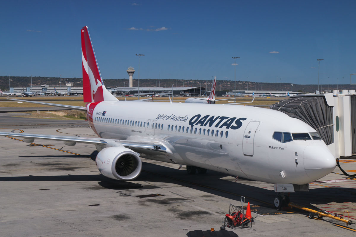 VH-XZH Boeing 737-838 (MSN 39372/4521) of Qantas, named 'McLaren Vale', at Perth Airport – Fri 6 March 2015. Parked at Bay 14, Terminal 4, at 1.57pm, this aircraft departed at 4.25pm as flight QF594 to Brisbane. Photo © David Eyre