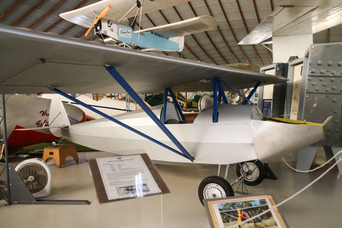 Unregistered Heath Parasol Model V at the RAAFA Aviation Heritage Museum, Bull Creek - Mon 9 March 2015. Photo © David Eyre