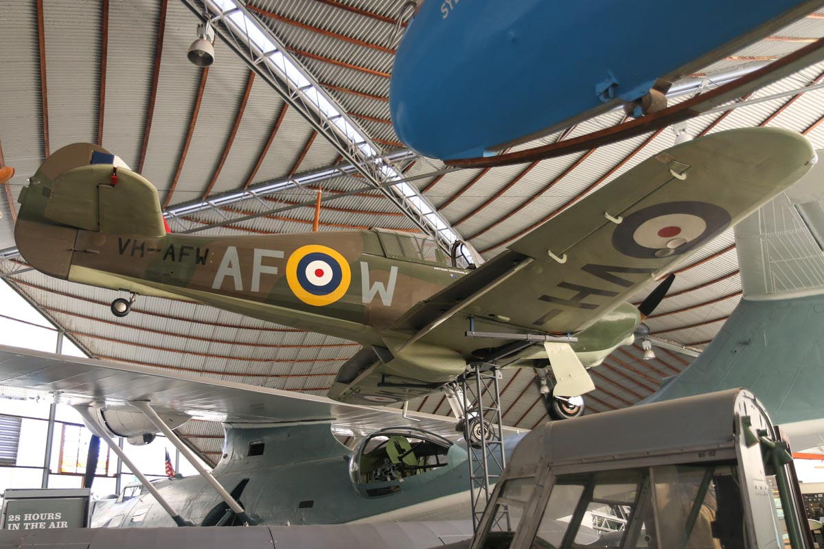 VH-AFW/AF-W Singlinger Hawker Hurricane replica (MSN 26-10663 / W140) at the RAAFA Aviation Heritage Museum, Bull Creek - Mon 9 March 2015. Photo © David Eyre