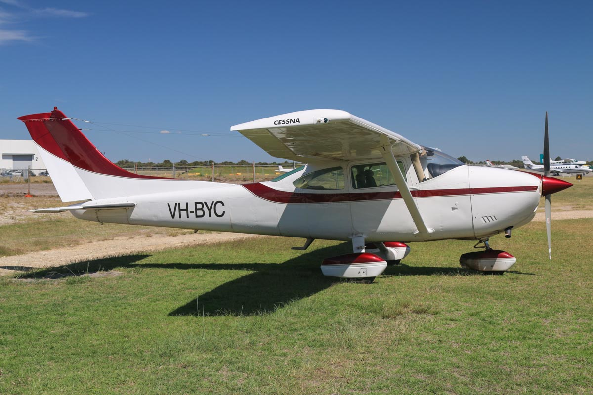 VH-BYC Cessna 182Q Skylane (MSN 18265412) owned by Philip Hooper, Albany, WA, at Jandakot Airport - Mon 9 March 2015. Built in 1977, ex (N735GL not taken up). Photo © David Eyre