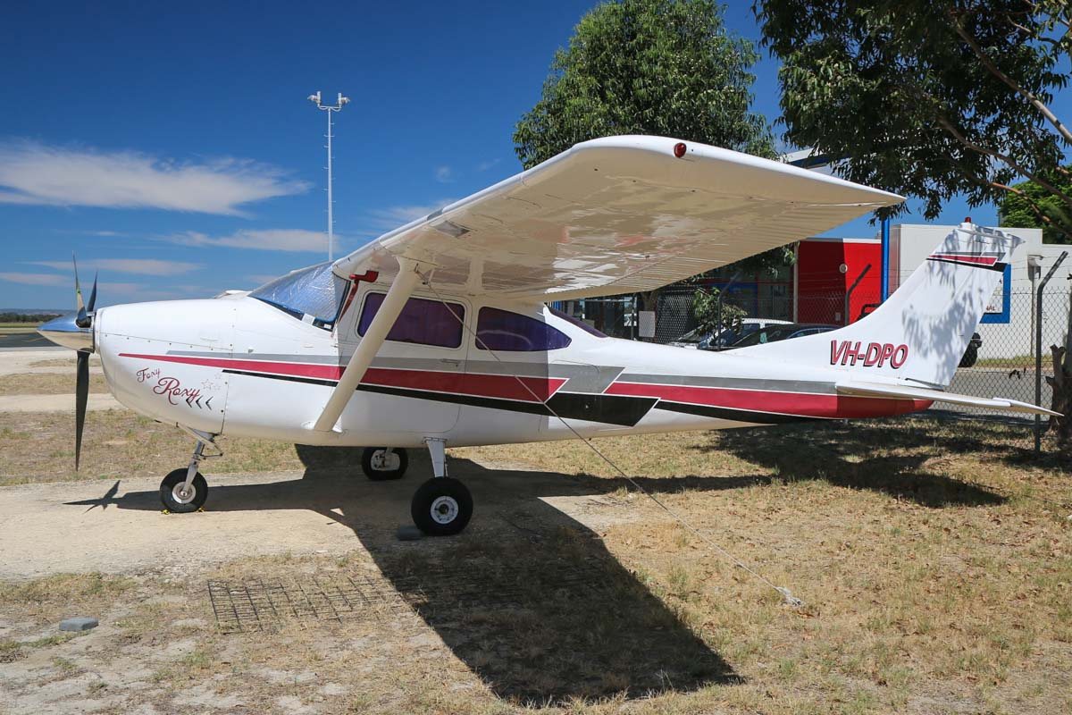 VH-DPO Cessna 182K Skylane (MSN 18258023), named 'Foxy Roxy', owned by Selina J Hilditch, at Jandakot Airport - Mon 9 March 2015. Next to Air Australia International's facility. Built in 1967, ex N3023Q. Photo © David Eyre.