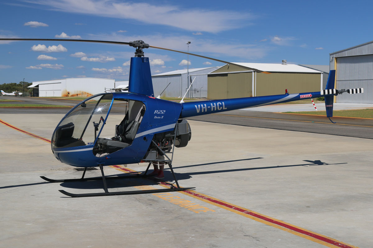 VH-HCL Robinson R22 Beta II (MSN 3959) of Fortescue Helicopters Pty Ltd, Newman, WA, at Jandakot Airport - Mon 9 March 2015. Built in 2005, ex ZK-HLU. Photo © David Eyre