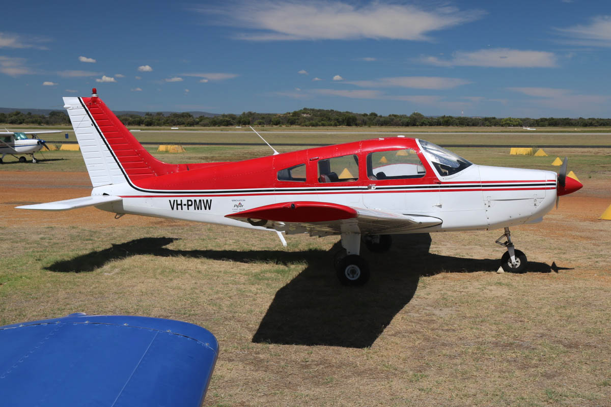 VH-PMW Piper PA-28-151 Cherokee Warrior (MSN 28-7515074) owned by Minovation Pty Ltd, at Jandakot Airport - Mon 9 March 2015. Built in 1975, ex N32121, VH-SGF. Photo © David Eyre