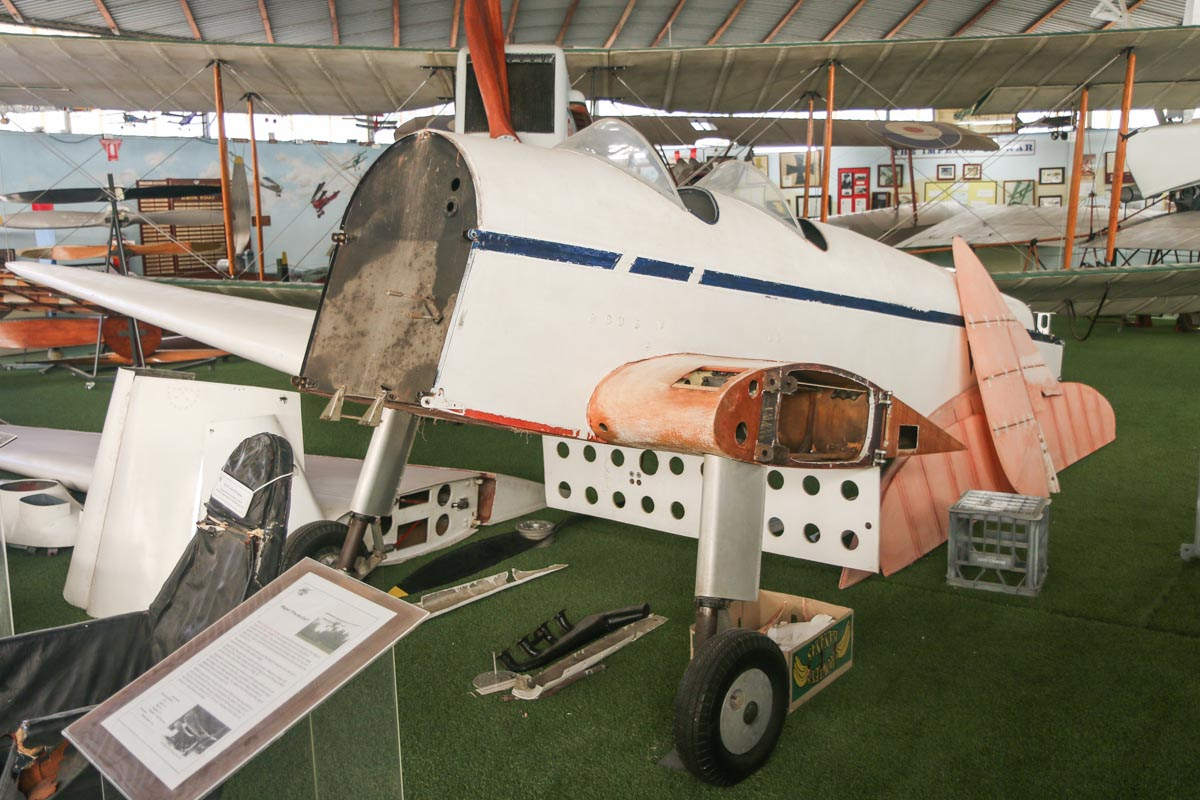 VH-THT De Havilland DH-94 Moth Minor (MSN 94076/3.01) at the RAAFA Aviation Heritage Museum, Bull Creek - Mon 9 March 2015. Photo © David Eyre