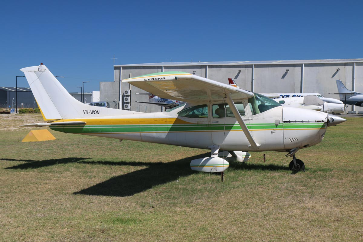 VH-WON Cessna 182Q Skylane (MSN 18265950) owned by Vincenzo Monterosso, at Jandakot Airport - Mon 9 March 2015. Built in 1977, ex N759FC, N1629C. Photo © David Eyre