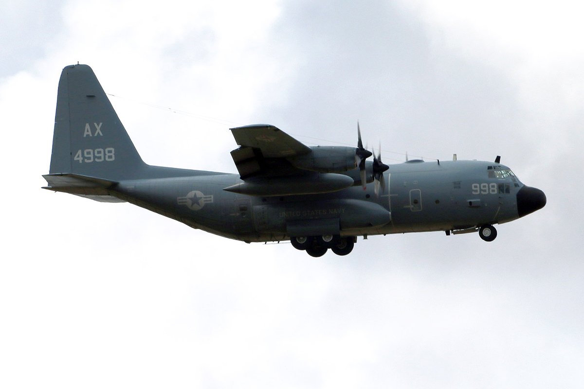 164998 Lockheed C-130T Hercules call sign Convoy 7918 US Navy – 15 march 2015.