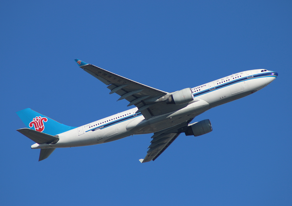 B-6526 Airbus A330-223 (cn 1220) of China Southern Airlines at Perth Airport - Fri 14 June 2013.